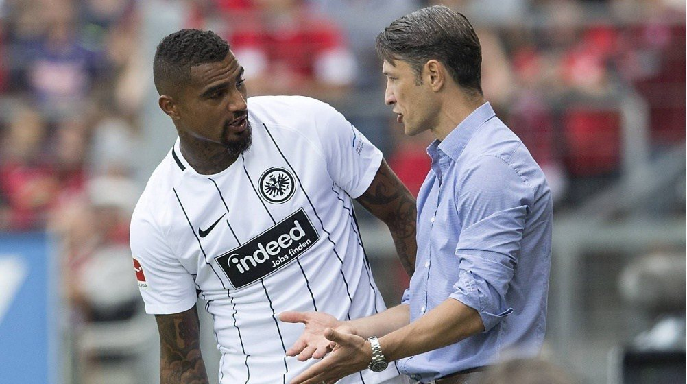 Kevin Prince Boateng pays tribute to departing Frankfurt Coach Niko Kovac