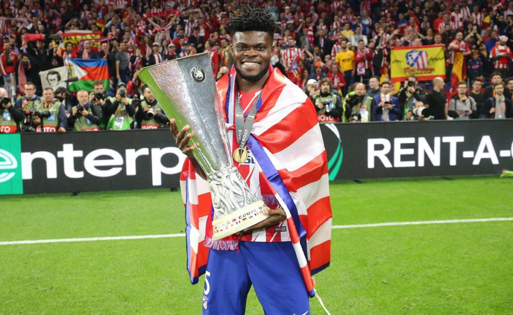 Thomas Partey cameos as Atletico Madrid slice Olympique Marseille to win Europa League