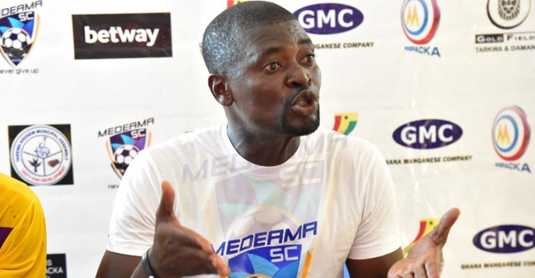 Medeama Coach Samuel Boadu happy with win over Champions Aduana Stars