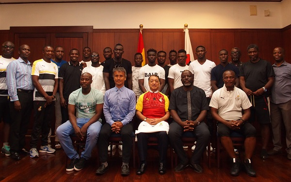 Japanese ambassador throws send-off party for Black Stars ahead of trip to face Blue Samurai in Yokohama