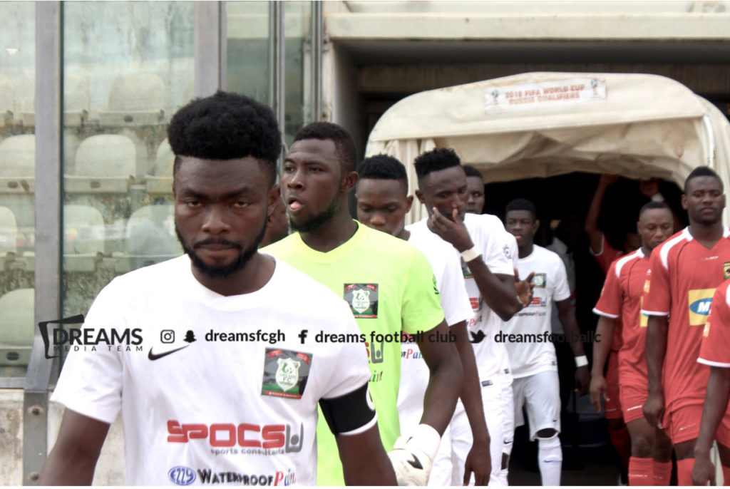 Dreams FC skipper Leonard Owusu upbeat about their chances ahead of Medeama SC clash