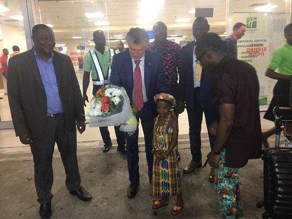 Peace and Sport founder Joël Bouzou visits Ghana