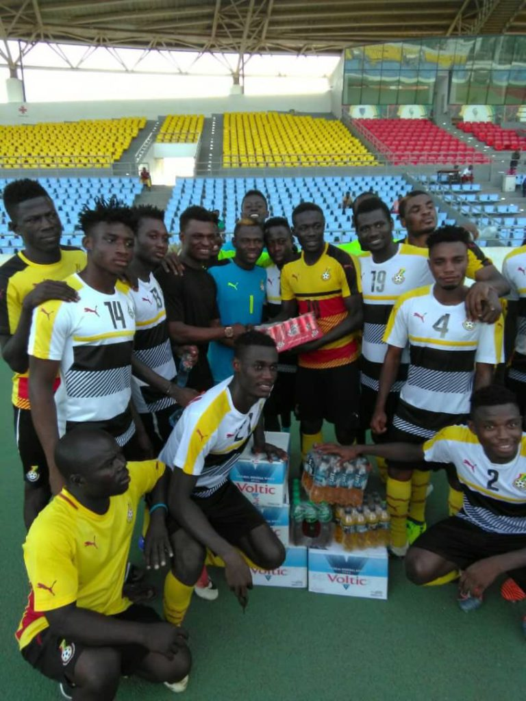 PHOTOS: Black Stars returnee Rashid Sumaila donates items to Black Satellites ahead of Algeria clash