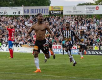 Ghanaian striker Sadat Karim rescues point for Landskroma BOIS in draw with Helsingborg