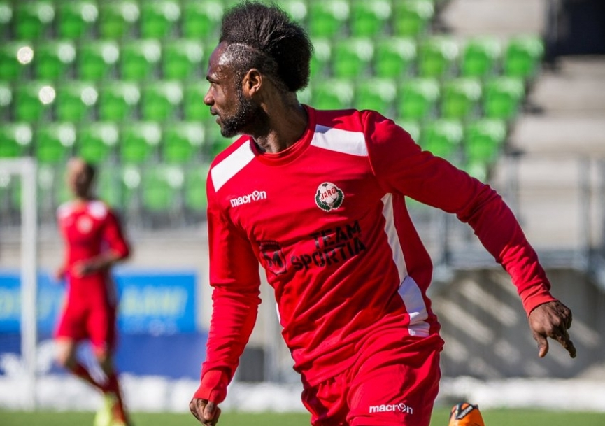 Seth Paintsil scores as FF Jaro wallop JJK Jyvaskyla in the Finnish second-tier league
