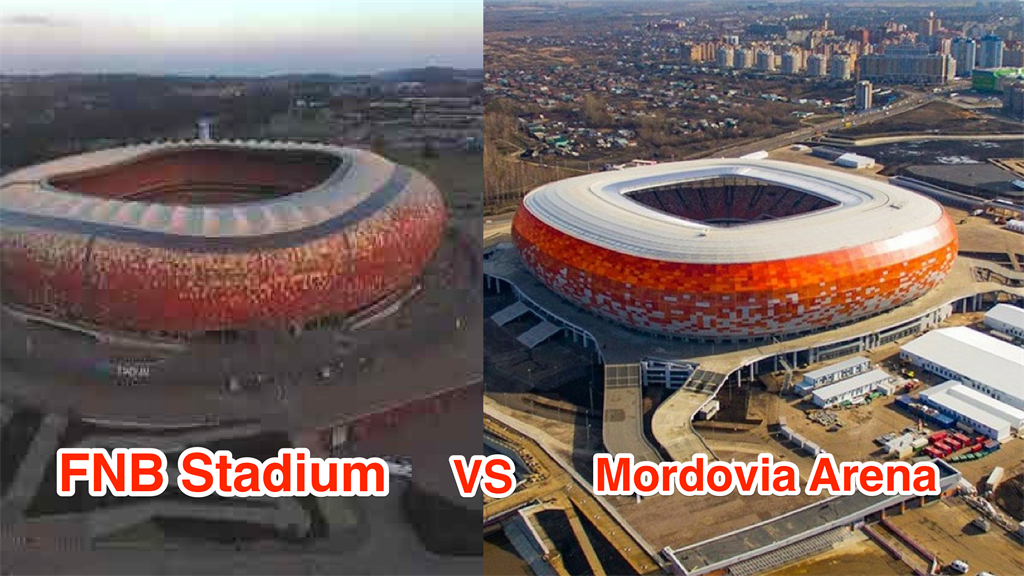 A 2018 Russian stadium looks a lot like a South African one