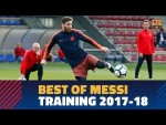 Messi's best moves in training during the 2017-18 season