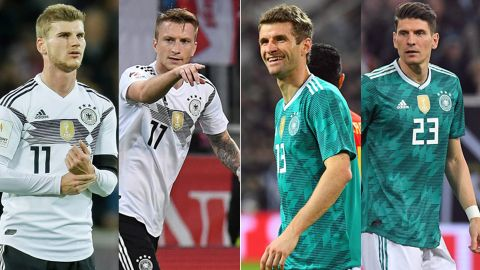 huge discount fc180 30a99 Germany's World Cup Four-wards Timo Werner, Marco Reus ...