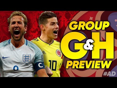 WORLD CUP 2018 Group G & H Preview | England, Belgium, Poland & Colombia