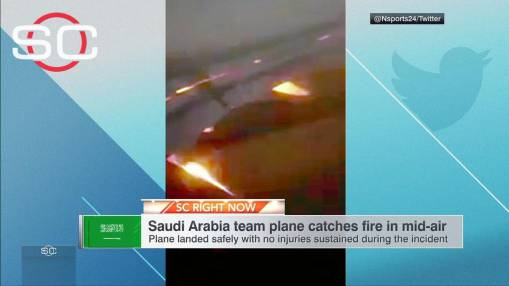 Saudi Arabia World Cup squad safe after engine fire on flight