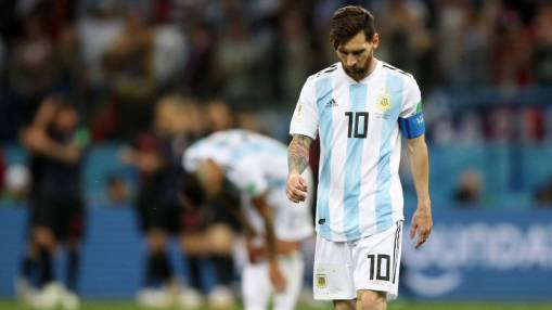 With Messi helpless, Argentina's World Cup dream fades