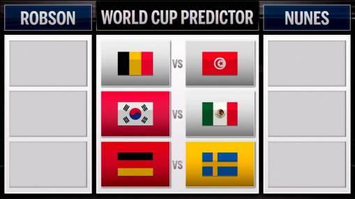 World Cup predictions: Belgium vs. Tunisia, South Korea vs. Mexico, Germany vs. Sweden