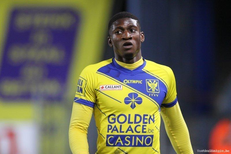 Striker Elton Acolatse suspended for Sint-Truiden clash against leader Genk in Belgium