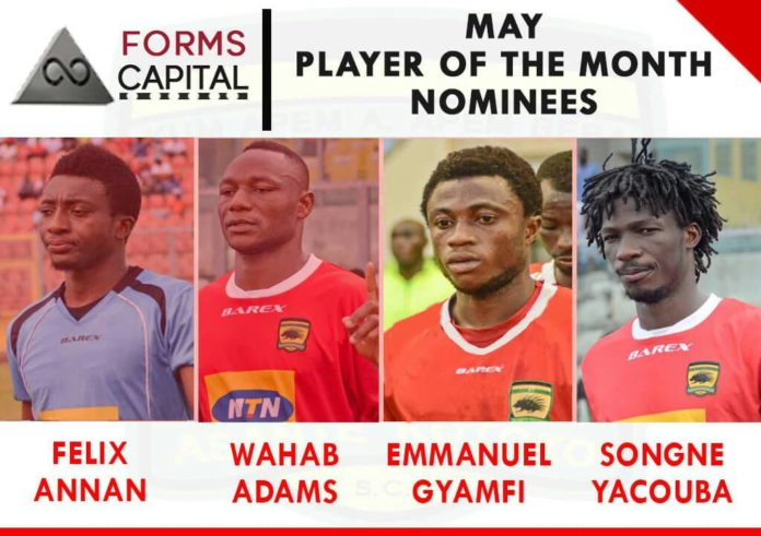 In-form Yacouba Songne, Felix Annan, Wahab Adams and Emmanuel Gyemfi shortlisted for player of the month