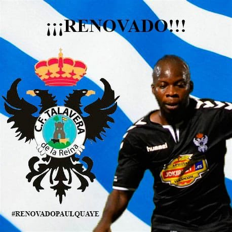 Paul Quaye signs one-year contract extension with Segunda B side CF Talavera