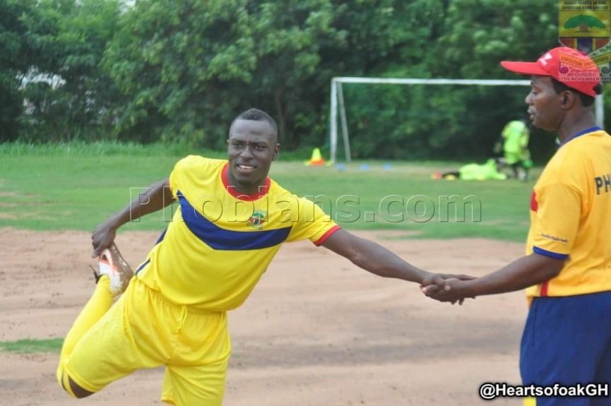 Hearts of Oak talisman Patrick Razak starts light training after recovering from injury