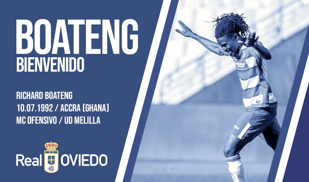 Spanish side Real Oviedo complete signing of Ghanaian midfielder Richard Boateng on two-year deal