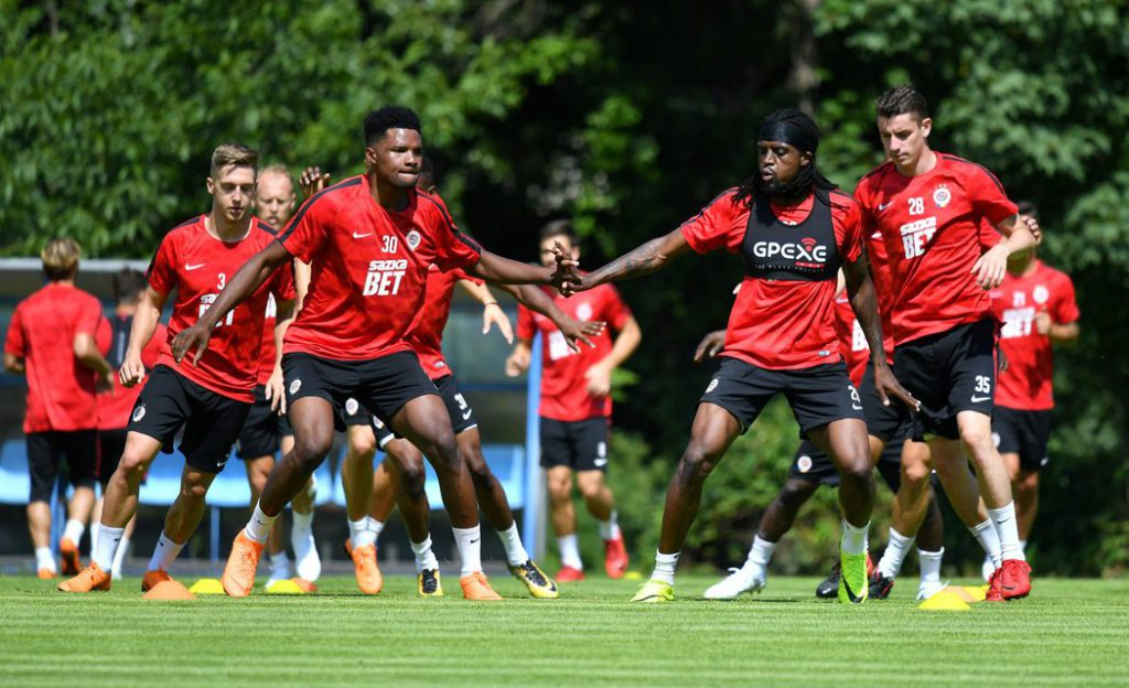 Ghanaian forward Benjamin Tetteh joins Sparta Prague pre-season training