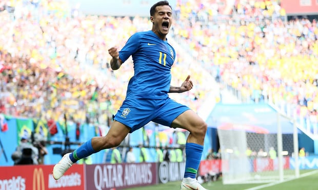 2018 World Cup: Brazil 2-0 Costa Rica - Coutinho and Neymar snatch late win to sink Costa Rica