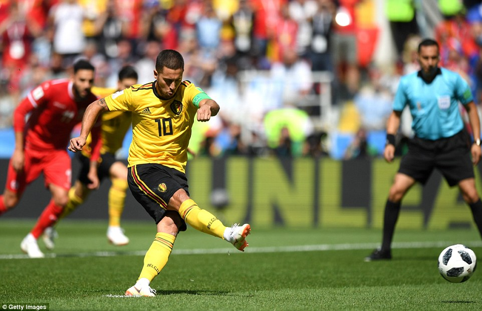 2018 World Cup: Belgium 5-2 Tunisia - Hazard, Lukaku bag braces as another African representative exit tournament
