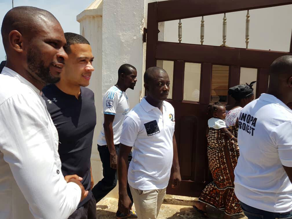 PHOTOS: Olympique Lyon star Memphis Depay visits Ghana for holidays