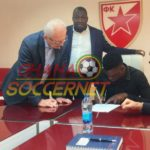 PHOTOS: See pictures of Rashid Sumaila sealing move to Serbian side Red Star