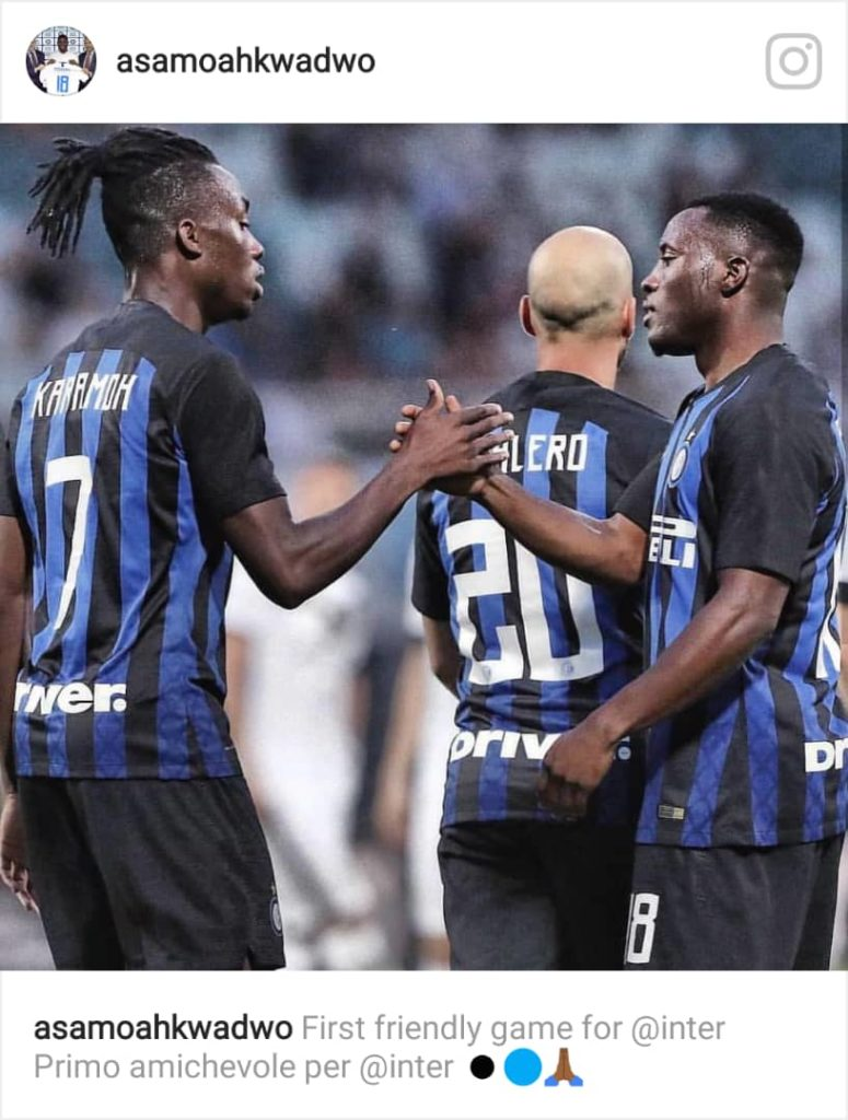 Kwadwo Asamoah excels on debut for Inter Milan in victory over Lugano