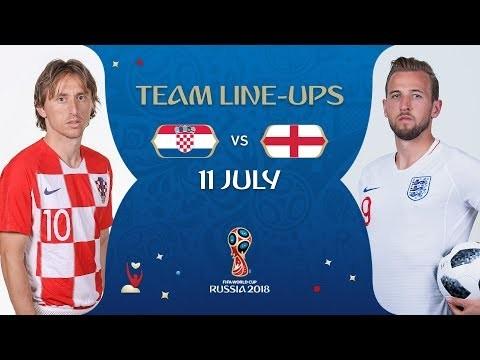 LINEUPS – CROATIA v ENGLAND - MATCH 62 @ 2018 FIFA World Cup™