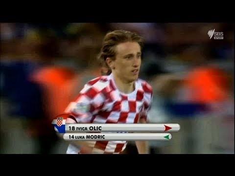 A young Luka Modric v Australia - 2006 FIFA World Cup