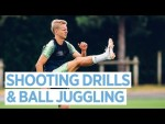 BIG SAVES, GOALS & BALL JUGGLING | Training at The CFA