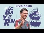 🔴 LIVE | Präsentation des neuen Auswärtstrikots beim FC Bayern Training!