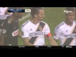 LA Galaxy's Zlatan Ibrahimovic drops a dime and drills a goal against the Union