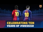 A decade of Messi as Barça's no.10