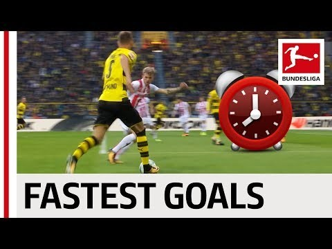 Top 10 Fastest Goals 2017/18 - BVB, Leipzig & More