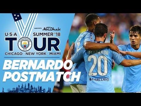 Bernardo Silva Post Match   Bayern 2 - 3 City   City in the US   Miami