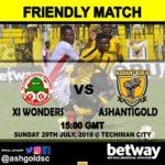 Ashantigold lineup friendly against Techiman XI Wonders