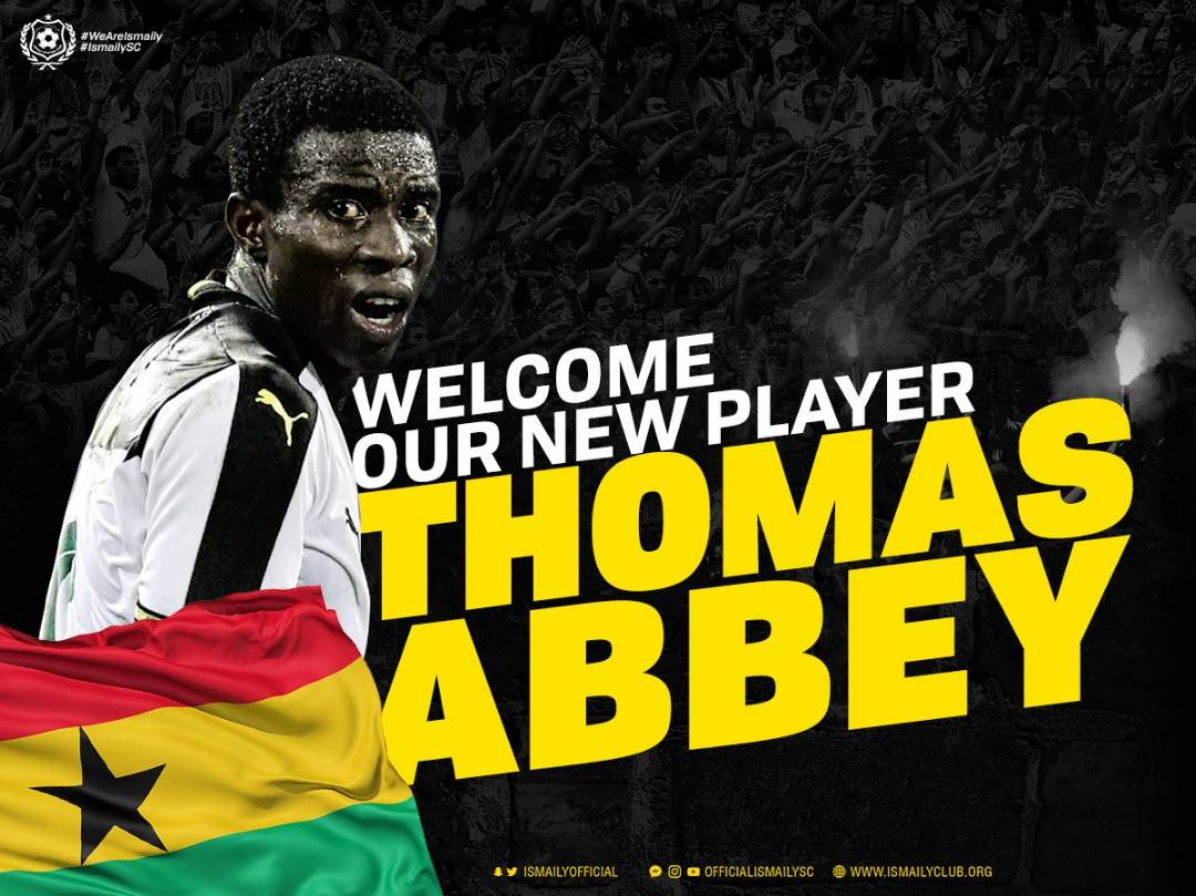 Former Hearts of Oak star Thomas Abbey terminates contract with Ismaily SC after just SIX months