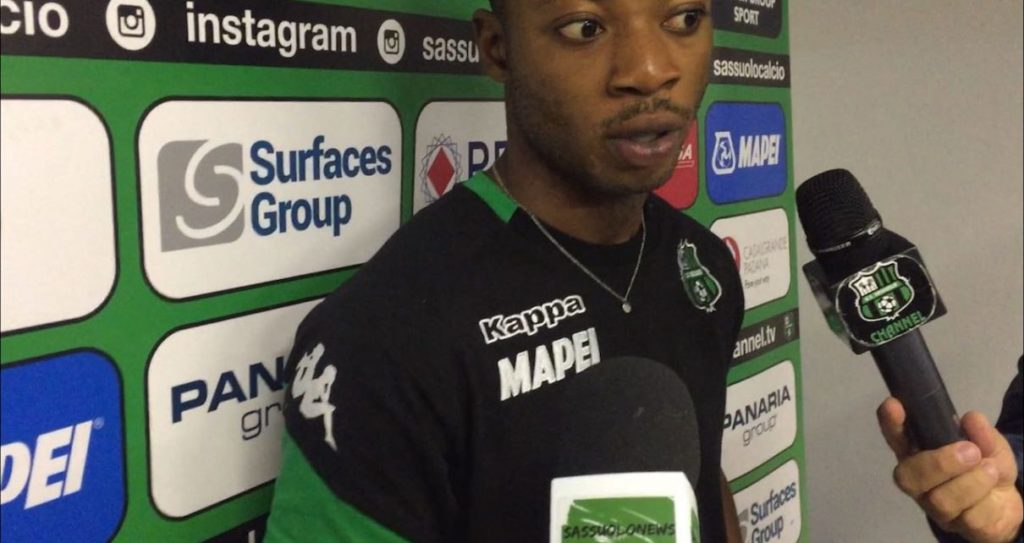 Sassuolo defender Claud Adjapong salutes coach De Zerbi, Boateng after win over Real Vicenza