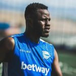 Mubarak Wakaso plays in Deportivo Alaves' pre-season friendly stalemate with Racing
