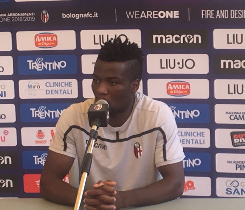 Ghanaian midfielder Godfred Donsah wants to excel with Bologna next season