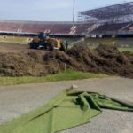 Work commences on Accra Sports Stadium re-grassing for 2018 Africa Women Cup of Nations tournament