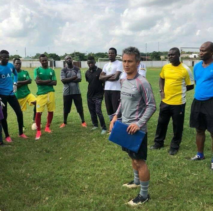 Breaking News: Japanese coach Kenichi Yatsuhashi holds first training session with Aduana Stars