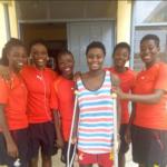 Black Princesses team visit injured striker Priscilla Adubea