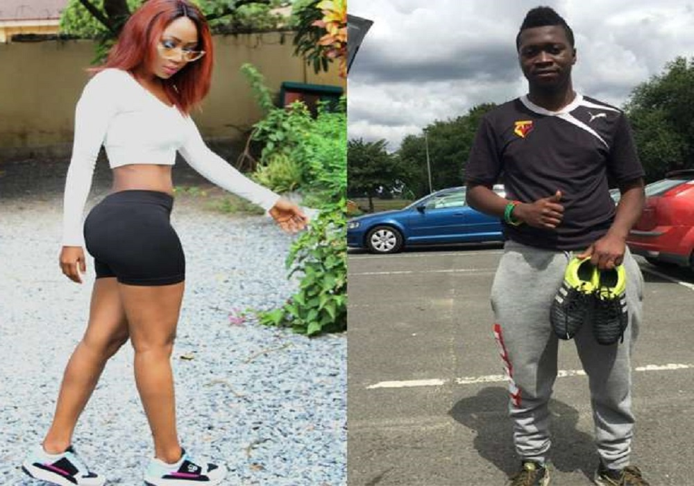 UK-based Ghanaian footballer expresses his love for Kumawood actress Rosemond Brown