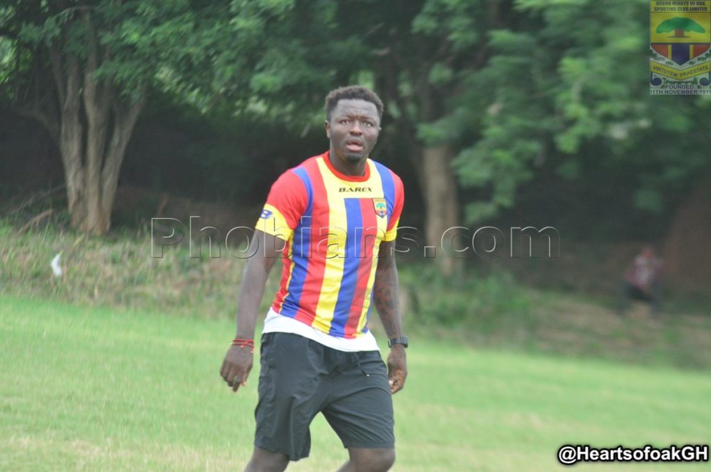 PHOTOS: Former AC Milan midfielder Sulley Muntari features for Hearts of Oak in friendly win over Bechem United