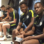 Ghanaian duo Thomas Agyepong and Collins Tanor begin preseason with Manchester City
