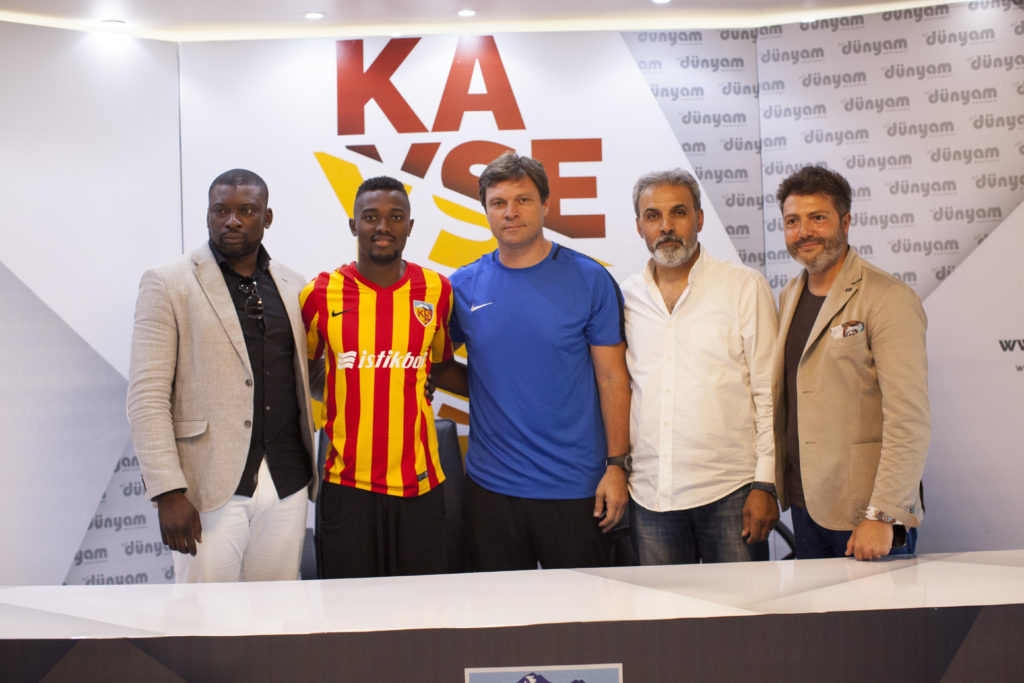 PHOTOS: Ghana midfielder Bernard Mensah signs for Kayserispor on loan