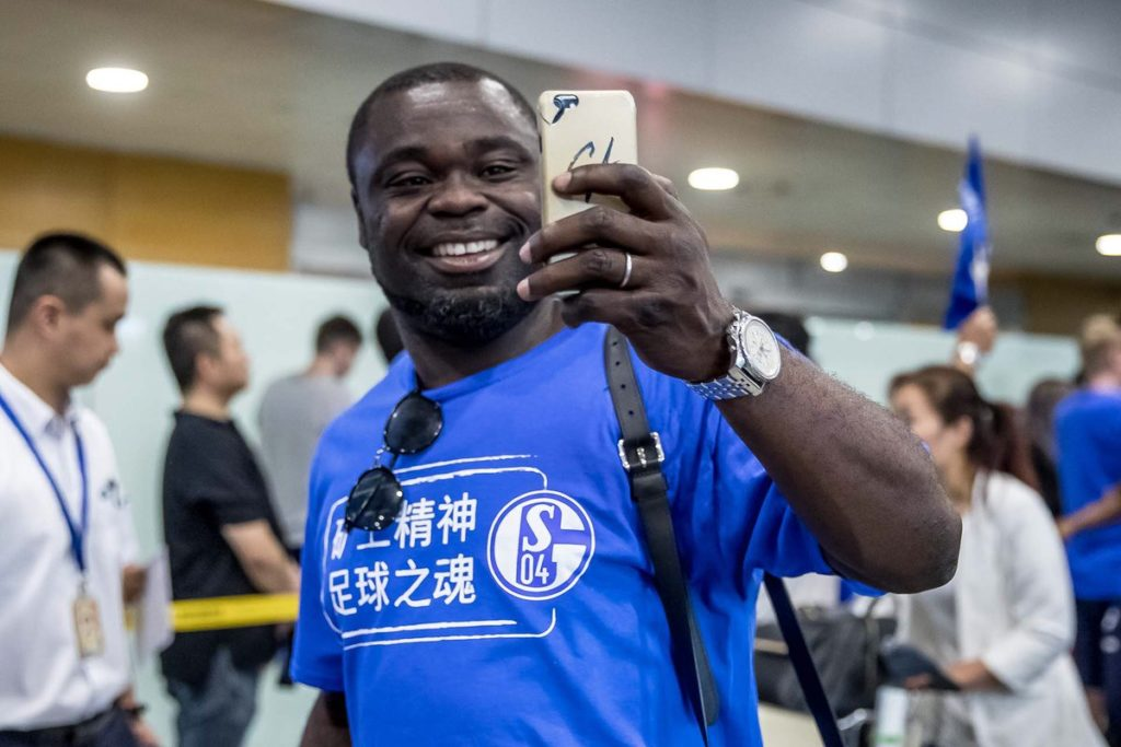 Gerald Asamoah excited by Schalke 04 reception in China ahead of pre-season training