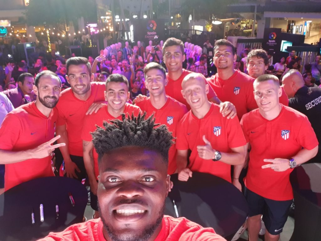 PHOTOS: Thomas Partey thrills Atletico Madrid team-mates and fans on Singapore tour