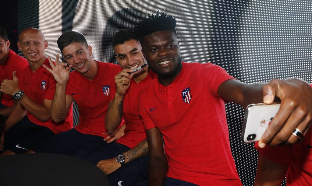 Video: Thomas Partey thrills Atletico Madrid team-mates and fans on Singapore tour